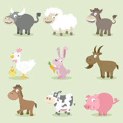 Farm animals collections