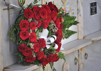 Corona de rosas.