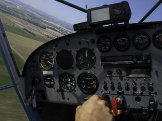 Sight of Cockpit in the Air