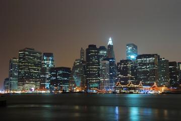 Wall Mural - NEW YORK CITY MANHATTAN NIGHT SCENE PANORAMA