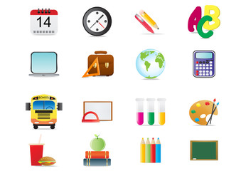 Vector illustration of back to school theme