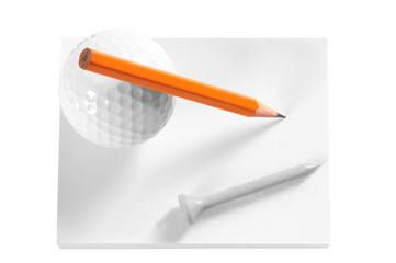 Golf objects. Isolated