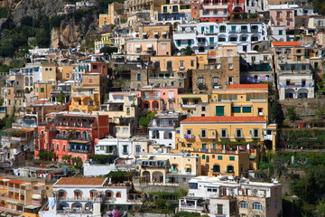 Buildings of Positano,Amalfi,Italy