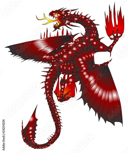 red dragon roter drache tattoo stockfotos und. Black Bedroom Furniture Sets. Home Design Ideas