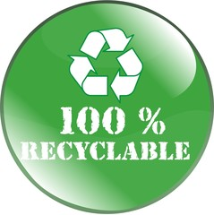 bouton 100% recyclable