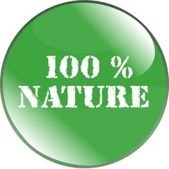 bouton 100 % nature