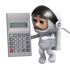 3d Astronaut calculations