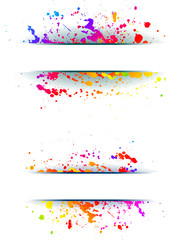 Printed roller blinds Floral woman Colorful grunge backgrounds.