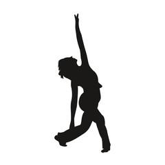 silhouette femme qui danse