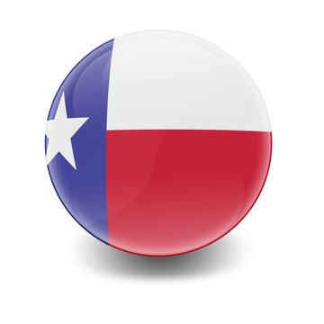 Esfera brillante con bandera Texas