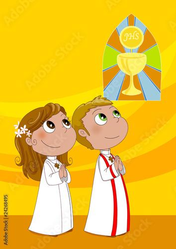 Bambini Alla Prima Comunione Stock Photo And Royalty Free Images On