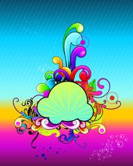 Fantasy color composition