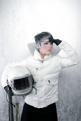 astronaut spaceship aircraft helmet fashion woman