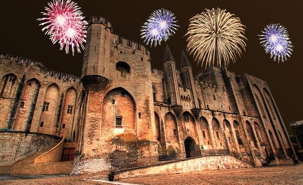 Avignon - Feu d'artifice
