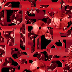 Red clock parts