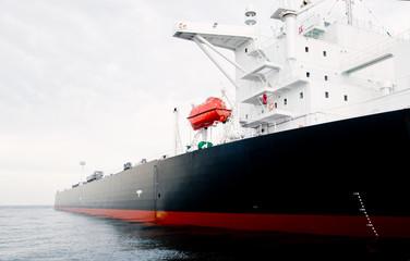 Oil-tanker moored offshore