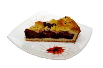 Freshly baked plum cake