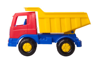 Toy truck isolated