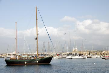 boats harbor ajaccio corsica france