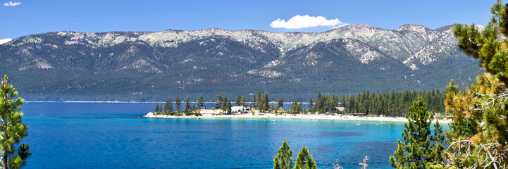 Wall Mural - Lake Tahoe, sand harbor view