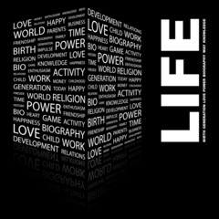 LIFE. Illustration with different association terms.
