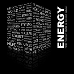 ENERGY. Illustration with different association terms.