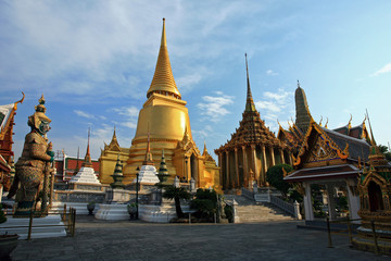 Golden Chedi at Wat Phra Kaew in Thailand