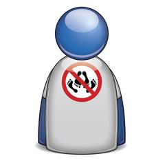 Icono camiseta prohibido HACER EL AMOR