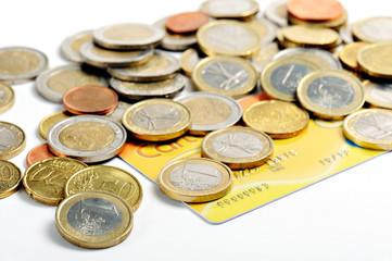 moneta in euro con carta di credito