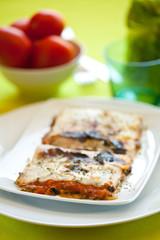 tasty plate of vegetal lasagna