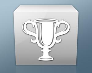"Box-shaped Icon ""Award Cup"""