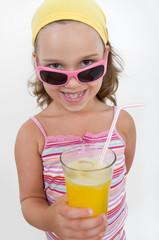 Mädchen beim Trinken