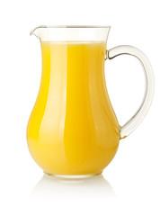 Orange juice in pitcher
