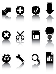 Black icons set 2