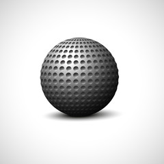 Metal ball on a white background. Vector illustration.