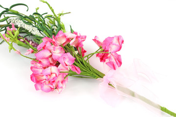Paper pink decorative flowers