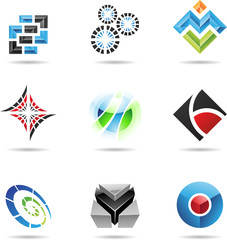 Various colorful abstract icons, Set 13