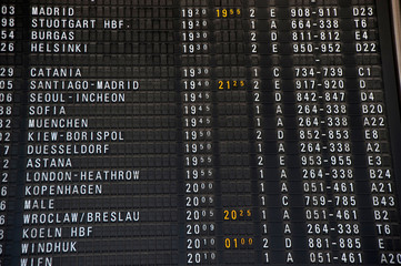 Arrival Departure Board- Flight schedule