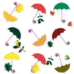 Colour umbrellas