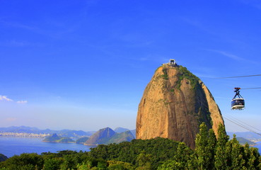 Sugar Loaf mountain with cable car