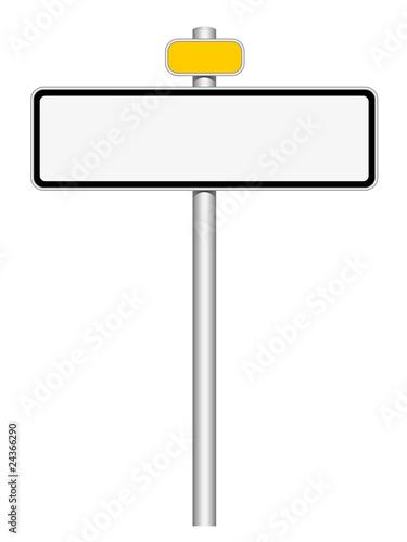 panneau blanc vierge avec catadioptre photo libre de droits sur la banque d 39 images. Black Bedroom Furniture Sets. Home Design Ideas