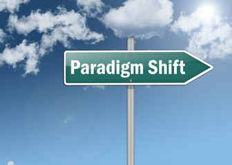 "Signpost ""Paradigm Shift"""