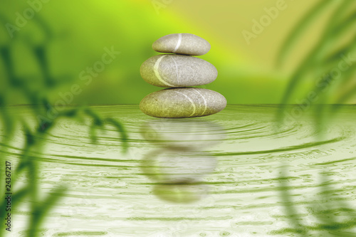 Zen Steine Spa Bambus Balance Stock Photo And Royalty Free Images