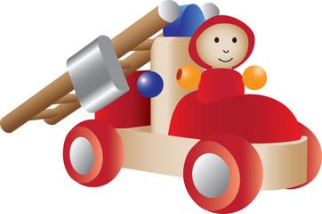 Firetruck toy illustration