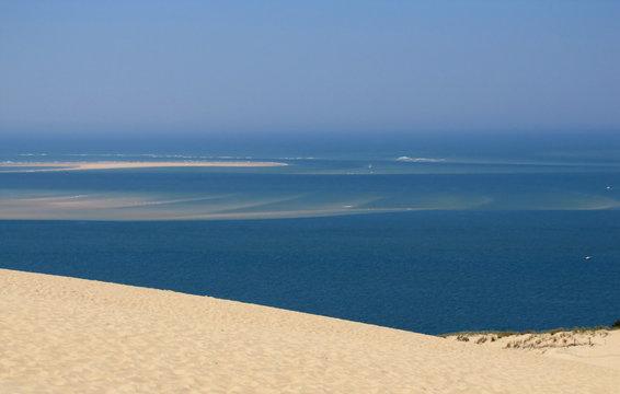 Le Banc d'Arguin vu de la dune du Pyla.