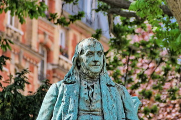 Statue de Benjamin Franklin, Paris.