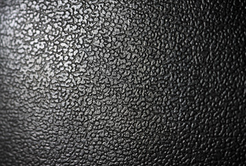 Grainy texture from black leather