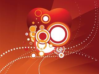 heart circle design