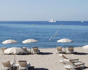 Beach at Cannes. Cote d'Azur. France