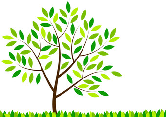 Symbolyc green tree